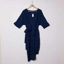 City Chic NWT RRP$99.95 Plus Size S Sapphire Blue Wrap Dress