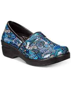 Easy Street Easy Works By Lyndee  Women's Slip Resistant Clogs Blue Pop Size 9.5