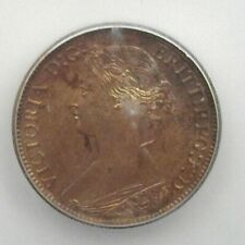 GREAT BRITAIN 1873 FARTHING ICG MS64 RB KM#747.2