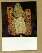 MOTHER WITH TWO CHILDREN ** EGON SCHIELE - UNUSED POSTCARD