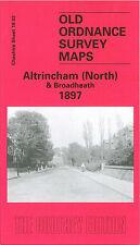 OLD ORDNANCE SURVEY MAP ALTRINCHAM NORTH BROADHEATH TIMPERLEY 1897