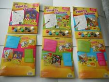 Kids Children's Paint By Numbers Painting Brush & Colours A4 Designs;3 Themes.