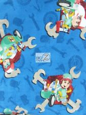 HANDY MANNY NUTS & TOOLS BY SPRINGS CREATIVE FLEECE PRINTED FABRIC FH-141 GARCIA