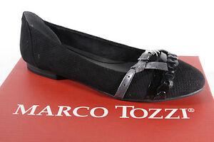 Marco Tozzi Ladies Slipper Ballerinas Black New