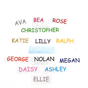 Personalised Vinyl Name text Wall Art Stickers Bedroom Home Decor DIY Baby Kid