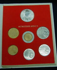 1983 Italy Vatican complete set coins UNC with silver in official red box