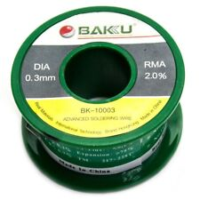 New BAKU 0.3mm RM 2.0% Finest High-Quality Tin Solid Solder Wire Reel Spool Roll