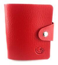Lagiwa® Porte-cartes universel Simili cuir ROUGE 30 pochettes toutes Cartes