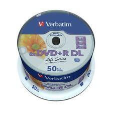 DVD+R DL Verbatim 8x Doble Capa Printable 50 uds