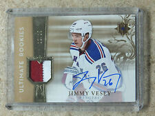 16-17 UD Ultimate RC Rookies Patch Auto #RRJ-JV JIMMY VESEY /25