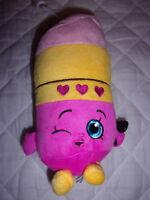 """Shopkins Lipstick 8"""" Winking Plush Soft Toy Stuffed Animal"""