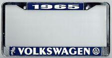 1965 Volkswagen VW Bubblehead Vintage California License Plate Frame BUG BUS T-3