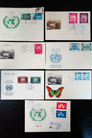 UN Middle East 1950s Collection of 7 Cachet Covers with UN Stamps