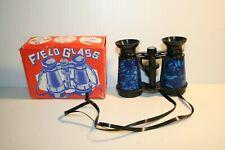 Vintage NOS  Blue   Field Glasses BINOCULARS  TOY William Shaland Corp Plastic