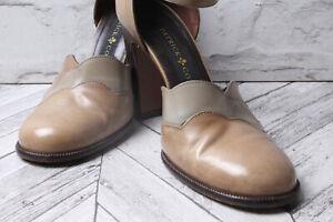 PATRICK Cox Court Pump Sandal Beige Tan Leather Summer Hoilday RRP £275 40 6.5 9