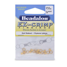 Beadalon® EZ-Crimp™ Findings Ends 8.5mm Gold Color 10 pieces