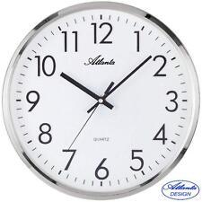 ATLANTA 44 Horloge murale montre quartz d'Atelier argent DE BUREAU CUISINE 361