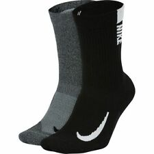 NWT Nike Multiplier Crew/Ankle /NoShow Socks - 2 Pack Drifit M,Large