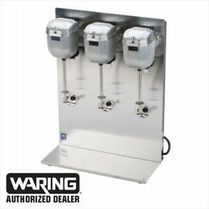 Waring DMC201DCA Heavy Duty Triple Spindle Drink Mixer 2 Speed 1 Yr Warranty
