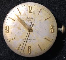 Vintage Elco Automatic Men's Watch Movement Ticks Autorotor 25j Swiss