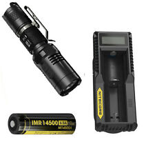 Nitecore MT10A Tactical Flashlight -XM-L2 U2 w/NL14500A Battery & UM10 Charger