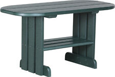 Outdoor Poly Lumber Oval Coffee Table in GREEN - Amish Made - Free Shipping
