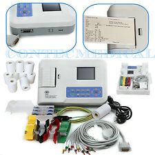 CE ECG300G 3 Channel 12 lead ECG EKG machine + USB+ software Electrocardiograph