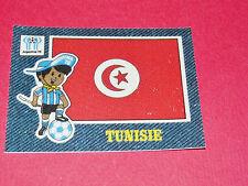 PANINI FOOTBALL 1978 ECUSSON JEAN DENIM TUNISIE ARGENTINA 78 WC WM MUNDIAL