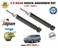 FOR HONDA HRV 1.6 16V 4WD 2000-2006 NEW 2 x REAR LEFT RIGHT SHOCK ABSORBER SET