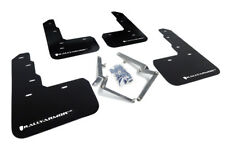 Rally Armor Mud Flaps Guards for 17-18 Civic Type-R FK8 (Black w/White Logo)