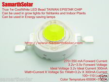 10 pcs LED diode 1W Cool White True 1 Watt Growlight UltraBright TAIWAN EPISTAR
