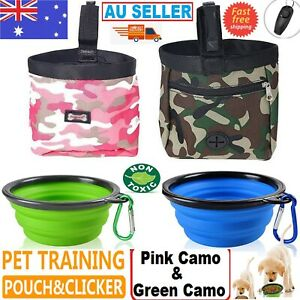 NEW Dog Obedience Training Treat Bag Puppy Food Snack Pouch Feed Hook Bags AUS