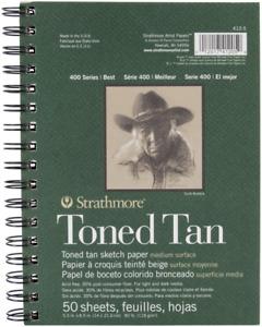 """Tan Drawing 400 Series Toned Sketch Pad 5.5""""x8.5"""" 50 Sheets NEW"""