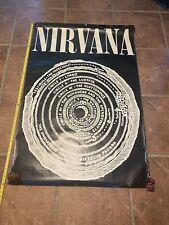 """HUGE ~ Nirvana ~ Vistibule ( Bleach 1989 ) 40"""" X 60""""  Vintage Advertising Poster"""