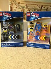 LEGO THE LEGO MOVIE BUILDABLE WATCH EMMET 9001291, BAD COP 9001307  NEW IN BOX
