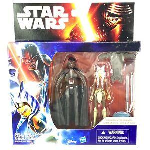 Hasbro Star Wars Rebels 3.75 Figure 2 Pack Darth Vader & Ahsoka Tano Firing Disk