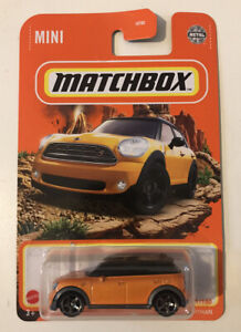 2021 MATCHBOX #51/100 - Mini Countryman Cooper S (Orange) 1x Long Card (Mix 3)