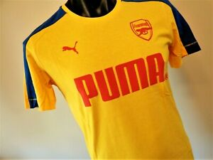 PUMA ARSENAL YELLOW T- SHIRT MENS SMALL BRAND NEW WITH TAGS