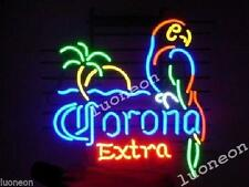 Corona Extra Parrot Bird Left Palm Tree Beer Bar Real Neon Light Sign FAST SHIP