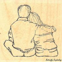 Week Of Hugs Wood Mounted Rubber Stamp IMPRESSION OBSESSION D21150 New