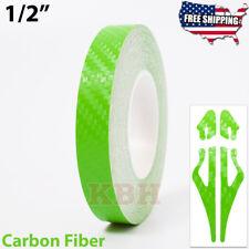 12 Vinyl Pinstriping Pin Stripe Tape Decal Sticker 12mm Carbon Fiber Green