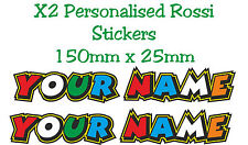 "Custom Personalised ""THE DOCTOR"" Rossi Text Decals Stickers - Your Name"