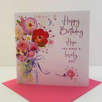 Nigel Quiney Female Lovely Day Happy Birthday Card Vase Of Flowers/LBL10