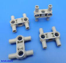 LEGO TECHNIQUE N°4225033 / PIN + TROU RELIURE gris clair / 4 pièce