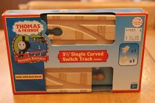 """Thomas & Friends Wooden Railway LC99910 3 1/2"""" Single Curved Switch Track 90MM"""