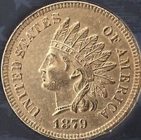 1879 INDIAN HEAD, ALMOST 4 DIAMONDS*** NICE COIN***Cleaned