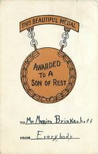Columbus~Mansfield Ohio~Medal Awarded To A Son Of Rest~Marion Brinkerhoff~1907
