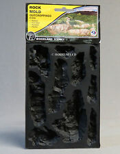 WOODLAND SCENICS ROCK MOLD OUTCROPPINGS O HO N O GAUGE train scene WDS 1230 NEW