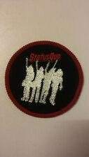 Status Quo Hello round hardrock rock vintage music patch Sew On aufnaher RARE