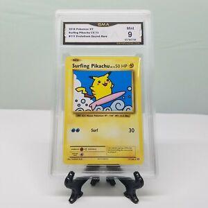 SURFING PIKACHU Secret Rare | GMA 9 MINT | 111/108 Evolutions Booster Pokemon